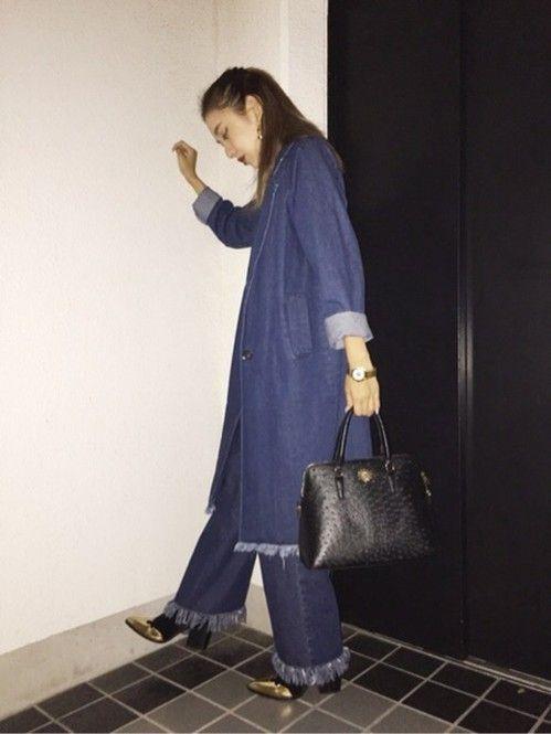 フリンジがポイント☆冬のファッションアイテム デニムコート コーデを集めました♪