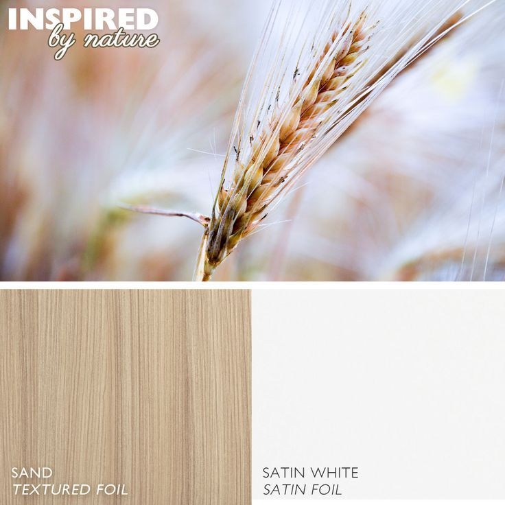 Wheat Field Inspired Kitchen Color Pallet with Dura Supreme's Sand Textureed Foil and Satin White Satin Foil.