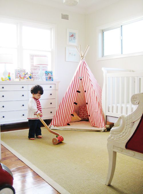 cute.: Toddlers Rooms, Idea, Kids Plays Rooms, Teepee, Boys Rooms, Plays Tent, Playrooms, Baby Rooms, Kids Rooms