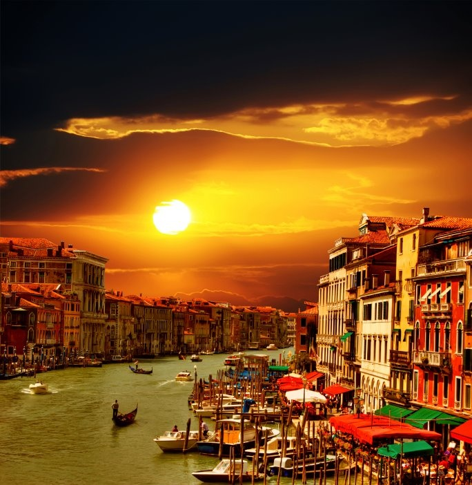 Venice at sunset!
