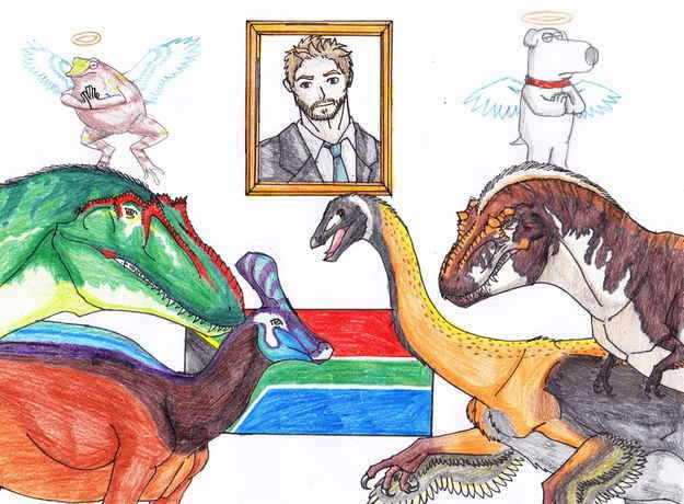 This tribute to extinct dinosaurs, Paul Walker, Brian Griffin, and Nelson Mandela