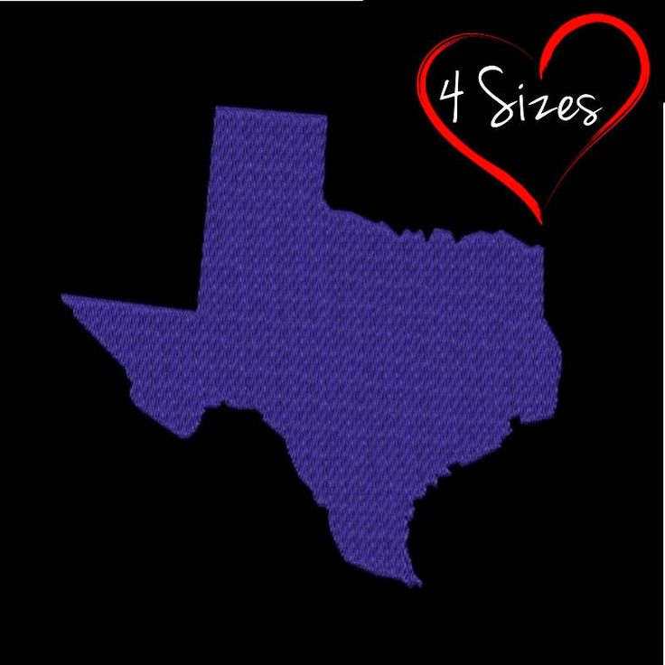 Texas State Embroidery Design USA Machine designs instant digital download pattern designs in the hoop pes files by SvgEmbroideryDesign on Etsy
