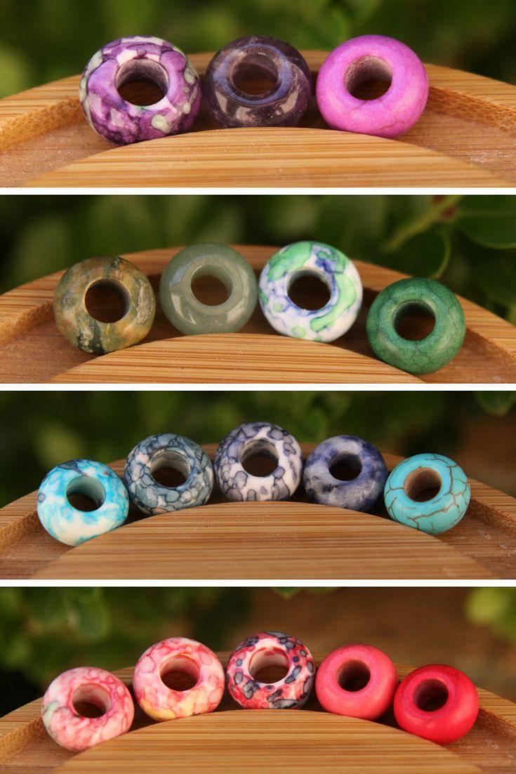 Colourful Dreadlock Beads Beautiful Gemstone Dread Beads from Mountain Dreads!   Dreadlock Beads, Natural Dread Care and Dreadlock Accessories. www.mountaindreads.com