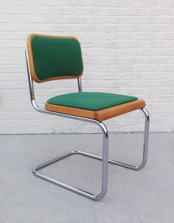 Set Of Six Green Marcel Breuer Cesca Chairs In 2019