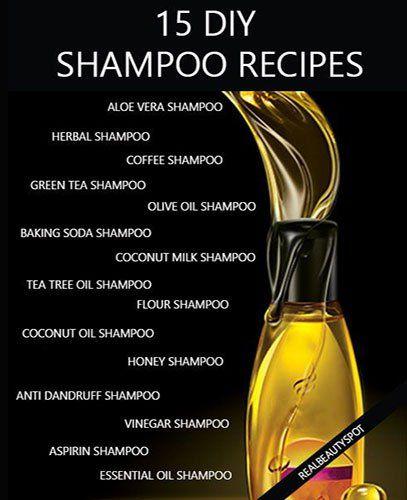 15 DIY natural shampoo recipes healthy hair – aloe vera shampoo, baking soda shampoo, coconut...