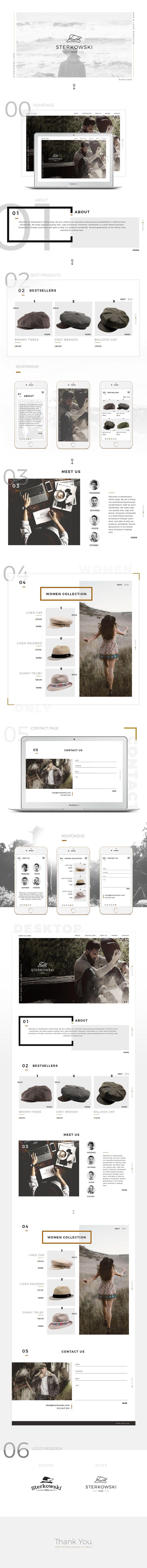 Web design inspiration UI/UX user experience fashion concept   Sterkowski.com — Website & Logo Redesign on Behance