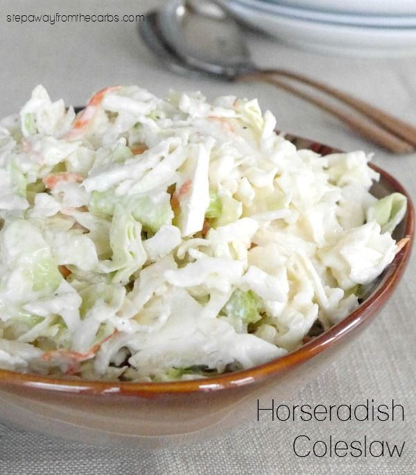 Horseradish Coleslaw - a low carb side dish recipe