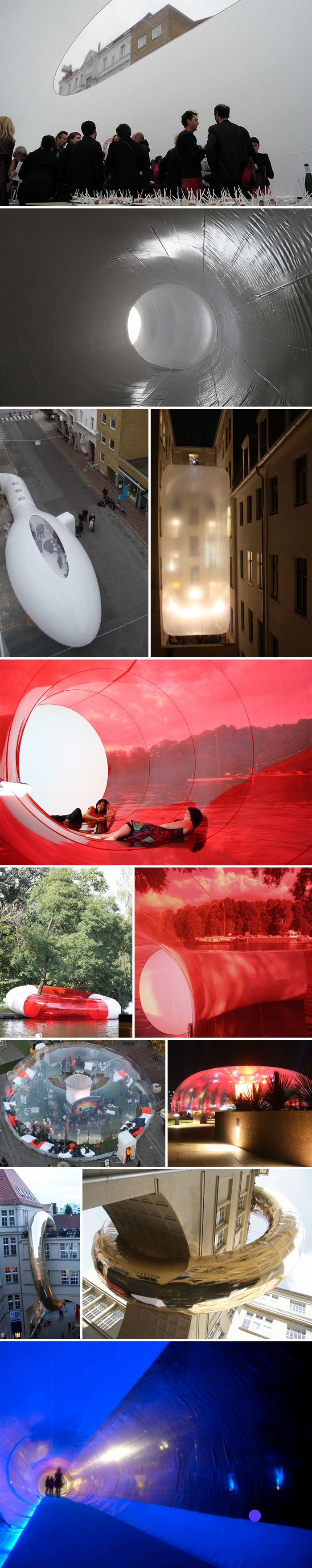 Plastique fantastique creates temporary plastic bubble for Architecture fantastique