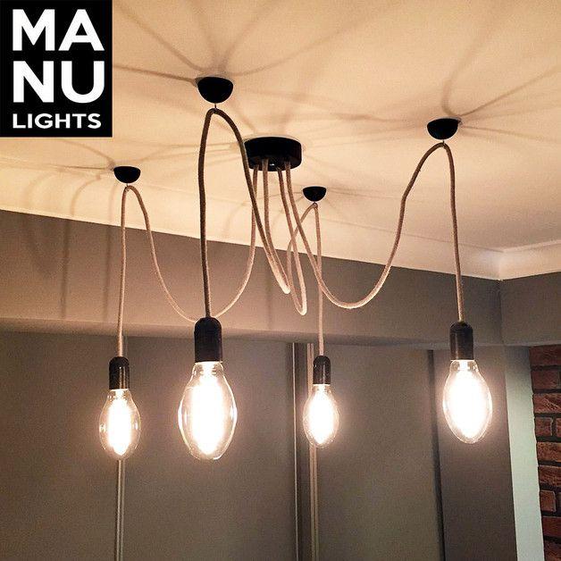 LAMPA wisząca pająk spider EDISON LOFT DESIGN - MANULights - Lampy sufitowe