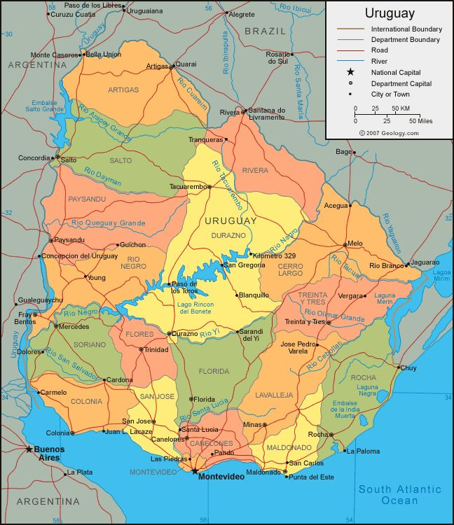 Best Map Of Uruguay Ideas On Pinterest Uruguay Map - Argentina map detailed