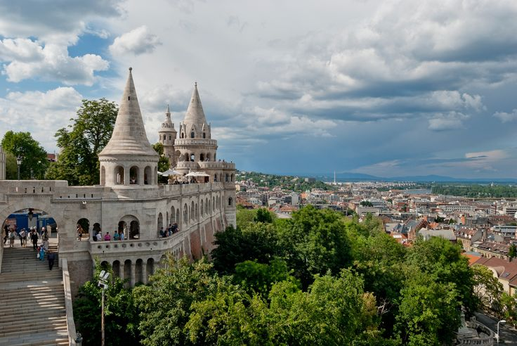 Buda tour - scenic view of Buda and Pest from top of Gellert Hill and historic…