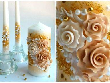 Набор свечей С-105 (золотой)