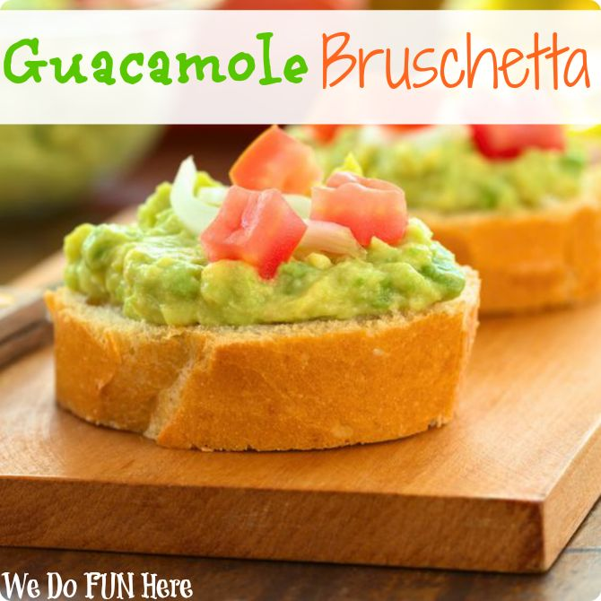 Homemade guacamole bruschetta #recipe #appetizer