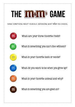 The M M Icebreaker Game Icebreaker Activities For