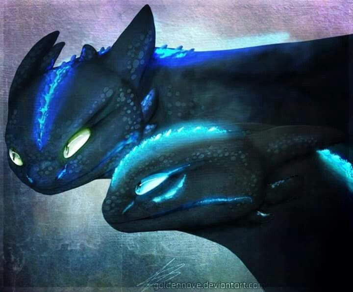 Oh my gosh headcannon that toothless had a mate and - Fury nocturne ...