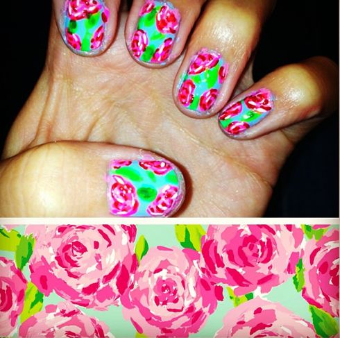 Lilly Pulitzer nails.. perfection. #lillypulitzer #sorority #nails #perfect
