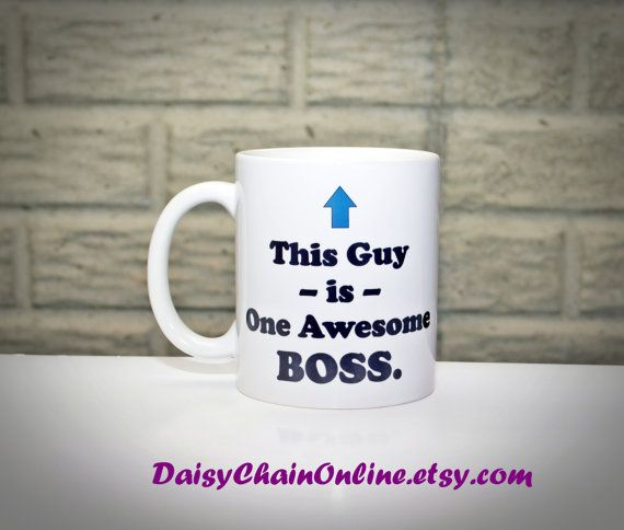 Gift for Boss  Funny Coffee Mug for Boss by DaisyChainOnline