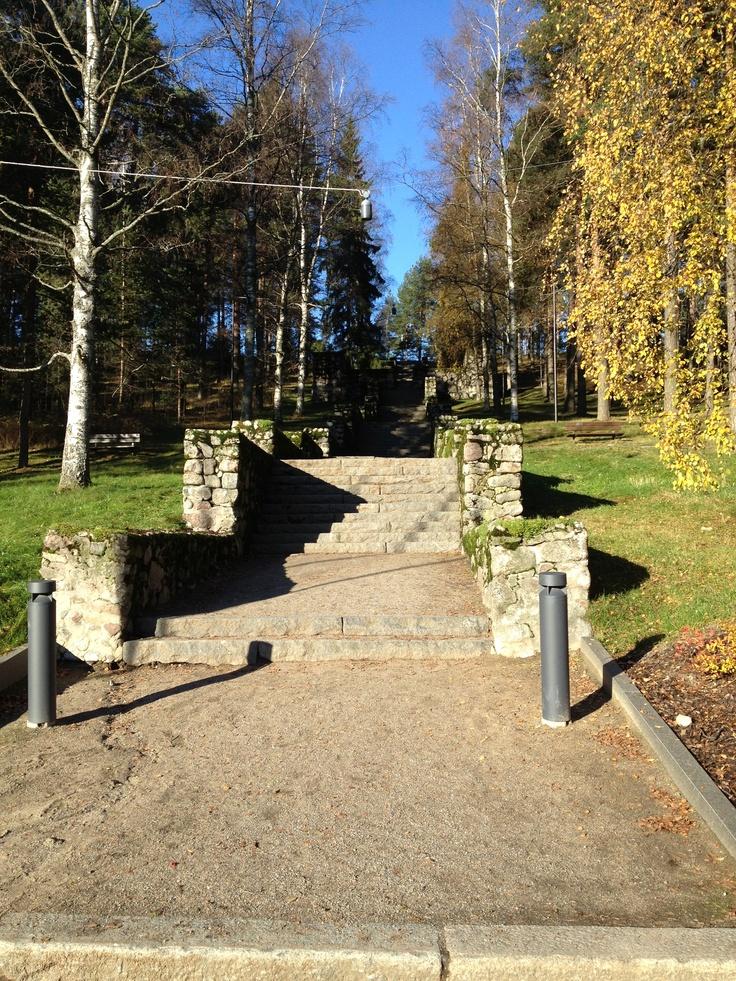 Neron portaat, Harju, Jyväskylä, Finland. Nero's stairs at Jyväskylä Ridge. October 2012.