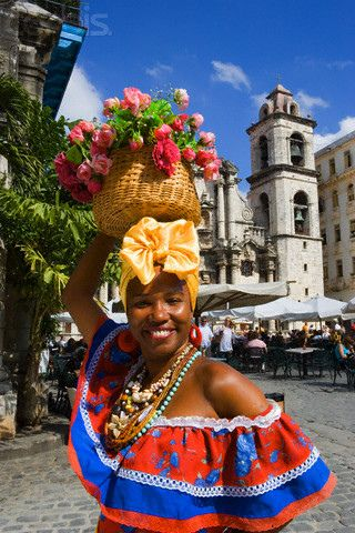 A radiantly lovely smile - and outfit - from Havana, Cuba.
