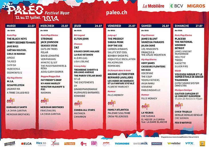 Paléo Festival Nyon 2014 - Ticket Sale, 9th April 2014, 12.00 ! - Das grösste Openair-Festival der Schweiz ! 22. bis 27. Juli 2014. Ticketalarm: http://www.ticketcorner.ch/paleo-festival-nyon-tickets.html?affiliate=PTT&doc=artistPages/tickets&fun=artist&action=tickets&kuid=446997 #paleofestival #paleo #nyon