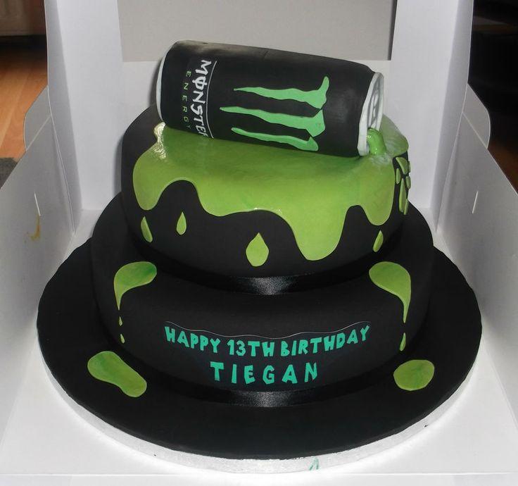 Monster Energy Cake cakepins.com
