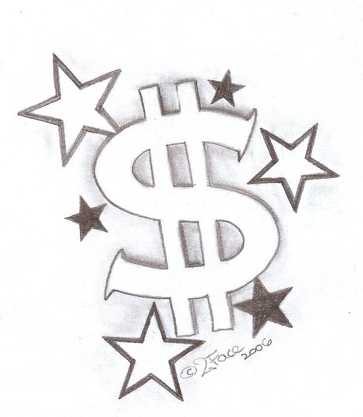 ... Dollar with Stars by 2Face-Tattoo.deviantart.com on @DeviantArt