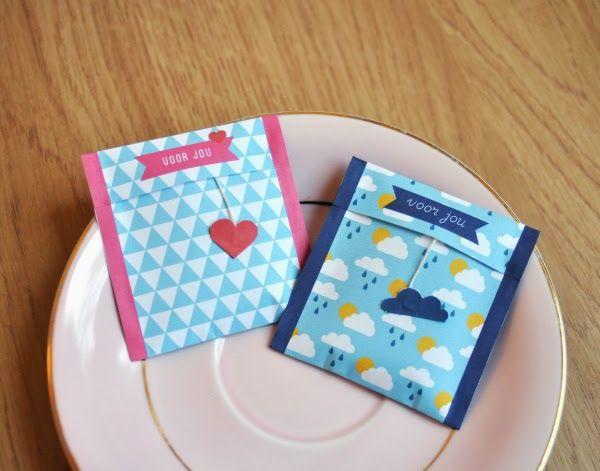 DIY tea bags - so cute ^^- free printable (dutch) templates   Beautyill