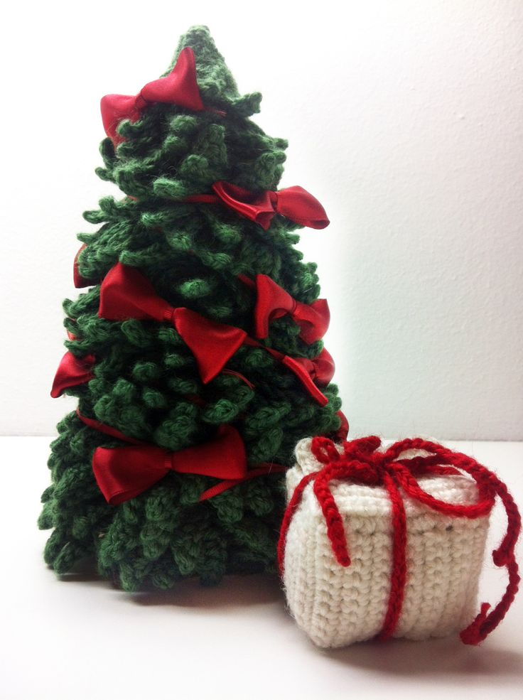 #Christmas tree #gifts #tricot decoration #Natale addobbi