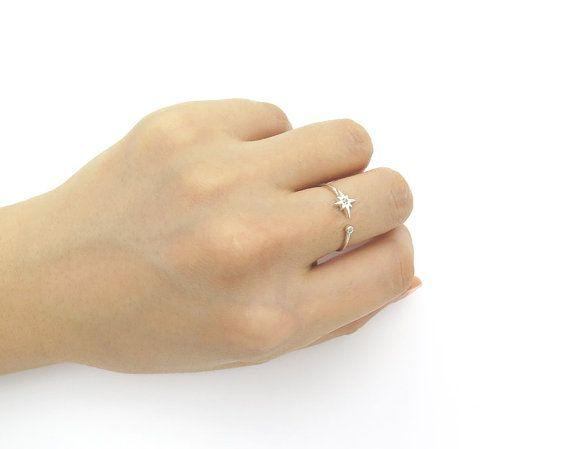 Starburst ring / Adjustable ring / Sterling by MinimalBijoux