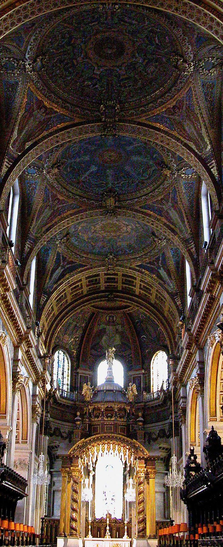 St. Paul's Cathedral - Interior Detail- London   England