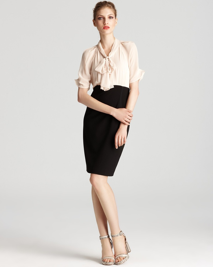 Anne Klein Dress Pussybow Twofer Dress - Dresses - New Arrivals - Boutiques - Women's - Bloomingdale's