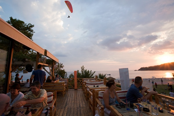 Olu Deniz Buzz beach bar, beautiful view of the sea and amazing cocktails