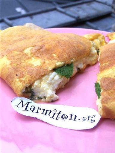 Omelette au brocciu (Corse) : Recette d'Omelette au brocciu (Corse) - Marmiton