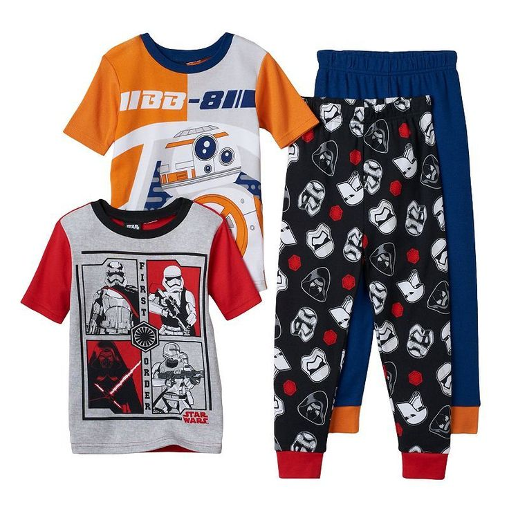 Boys 6-12 Star Wars BB-8 4-Piece Pajama Set, Boy's, Size: 10, Multicolor