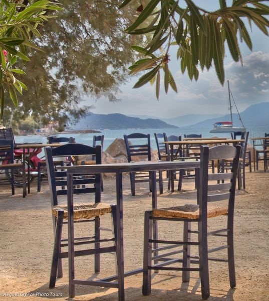 Tavern tables at Perdika