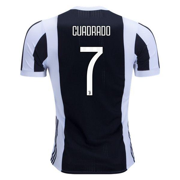 adidas Juan Cuadrado Juventus Authentic Home Jersey 17/18