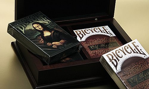 Bicycle Old Masters Limited Edition Card Set with Engraved Box, available at http://www.playingcards4magic.com/products/collector/