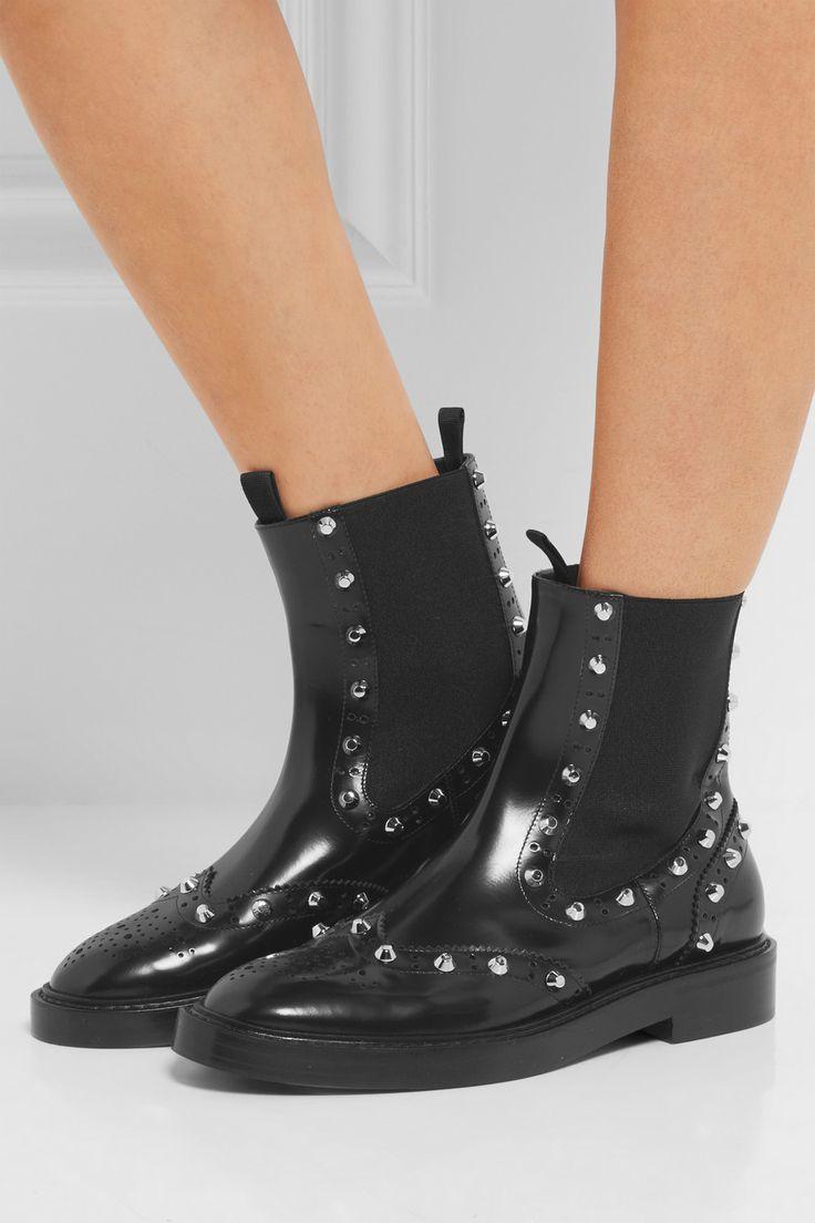 Баленсиага   шипованные кожаные ботинки Челси   NET-A-PORTER.COM