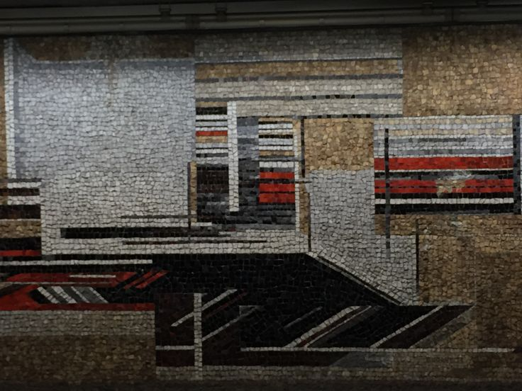 Mosaic at metrostation Parc. Roger Dudant.