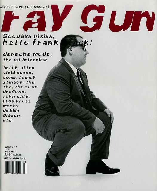 """cMag526 - Ray Gun Magazine cover """"Frank Black"""" by David Carson / Issue 4 / March 1993"""