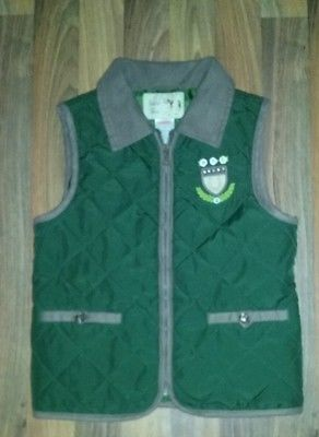 Girls gymboree zip up vest size 8