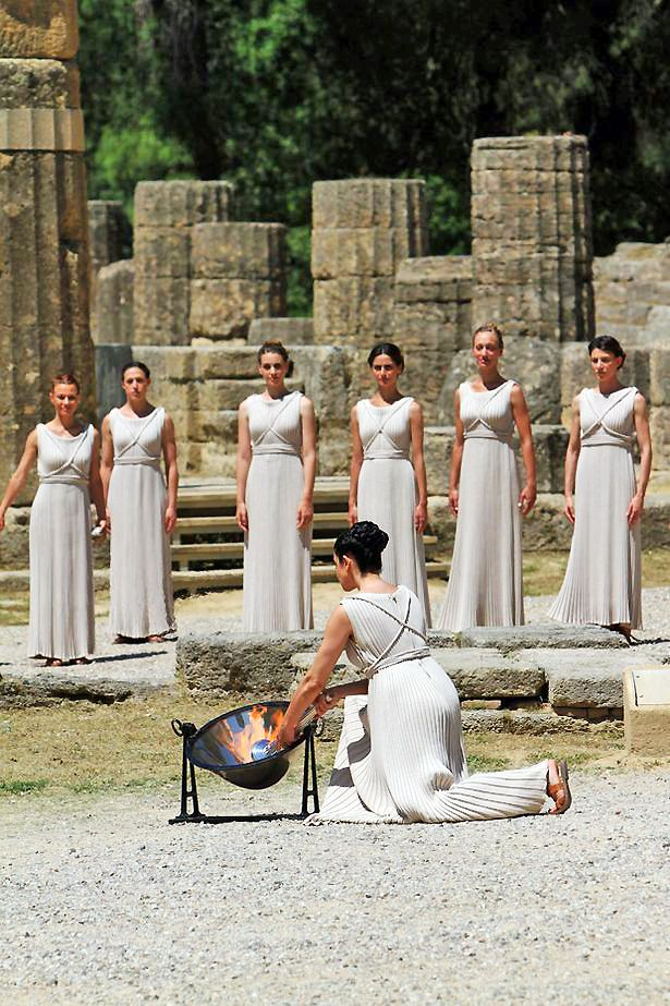 Olympic Flame Ceremony, Arhaia Olympia, Greece
