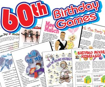 Everyone will have fun playing these  60th Birthday Printable Party Games!