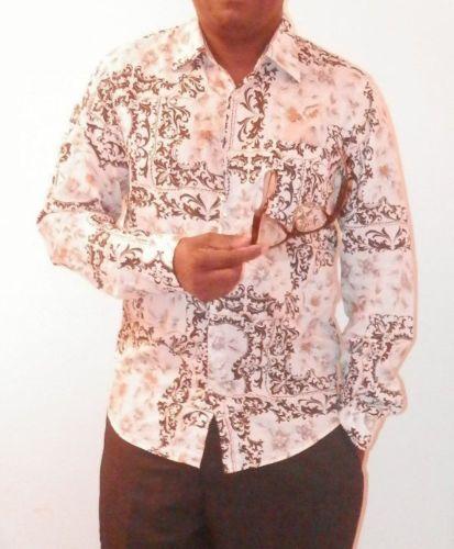 HUGO-BOSS-MENS-MULTI-COLOR-PLAIDS-amp-CHECKS-Button-FRONT-Shirt-SLIM-FIT-L