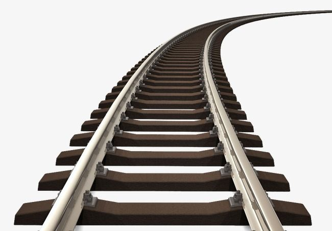 Railroad Rail Track Track Clipart Railway Rail Png And Vector With Transparent Background For Free Download Train Clipart Train Tracks Railroad Tracks