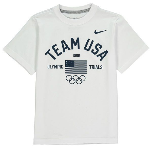 Team USA Nike Youth 2016 Olympic Trials T-Shirt - White - - $11.99