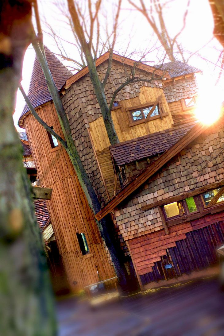 Alnwick Treehouse. It's actually a restaurant, but it would make a magical house too #northumberland