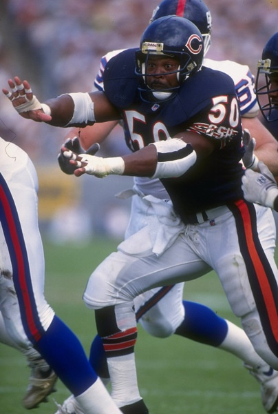 Mike Singletary (LB) Bears - First Year: 1981 - 12 seasons - Drafted: Round 2, Pick 38