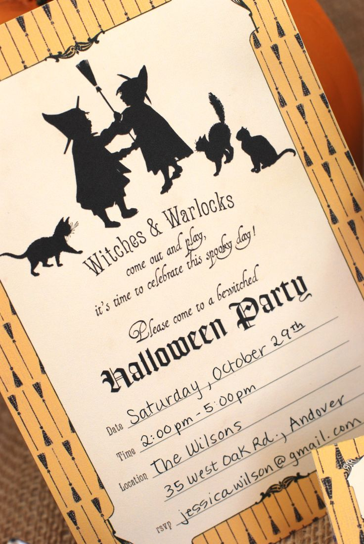cute vintage witch party for kids