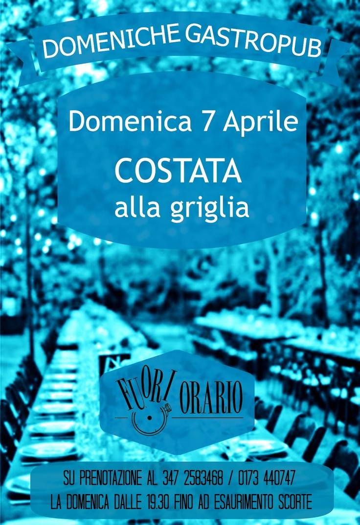 """Domenica 7 Aprile """"La"""" COSTATA alla griglia"""
